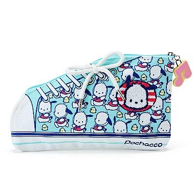Sanrio 帕恰狗元氣奔跑系列帆布鞋造型扁平收納包