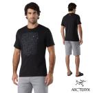Arcteryx 始祖鳥 24系列 男 Block 有機棉 短袖T恤 黑