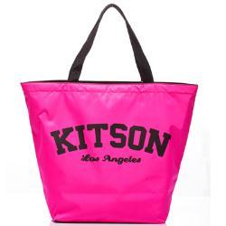 kitson 美式學院風寬口型托特包(PINK)