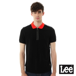 Lee  拼接短袖POLO/UR-男款-黑