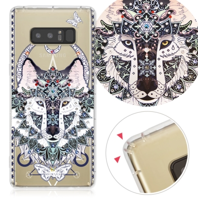 KnowStar 三星 Galaxy Note8 奧地利彩鑽防摔手機殼-狼嚎