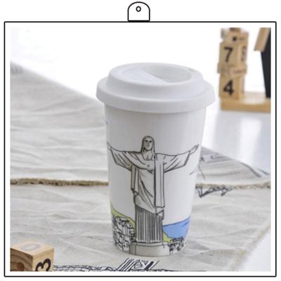 Bella House我不是紙杯330ml-巴西里約熱內盧救世主耶穌雕像