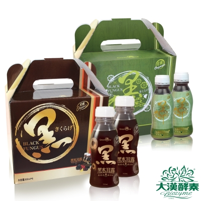大漢酵素有機黑糖、冬蟲夏草黑木耳露(350mlx6瓶)各1組
