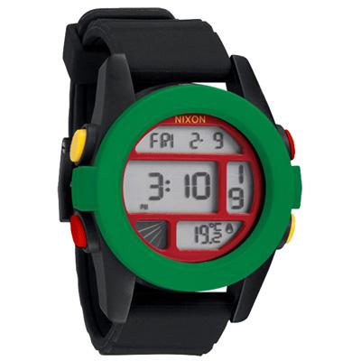 NIXON The UNIT率性概念雙時區運動錶-綠黑/46mm