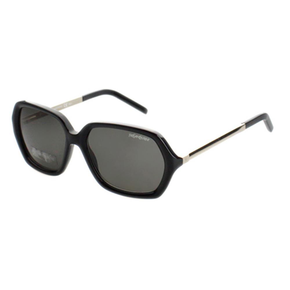 YSL-時尚太陽眼鏡 (琥珀色/黑)