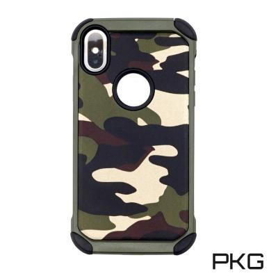 PKG Apple IPhone X 抗震防摔保護殼(超強抗衝擊-迷彩綠)