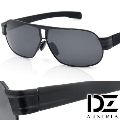 【2件59折】DZ 爵士T調 抗UV 偏光 太陽眼鏡墨鏡(黑框灰片)