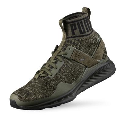 PUMA IGNITE evoKNIT 男女慢跑運動鞋-軍綠色