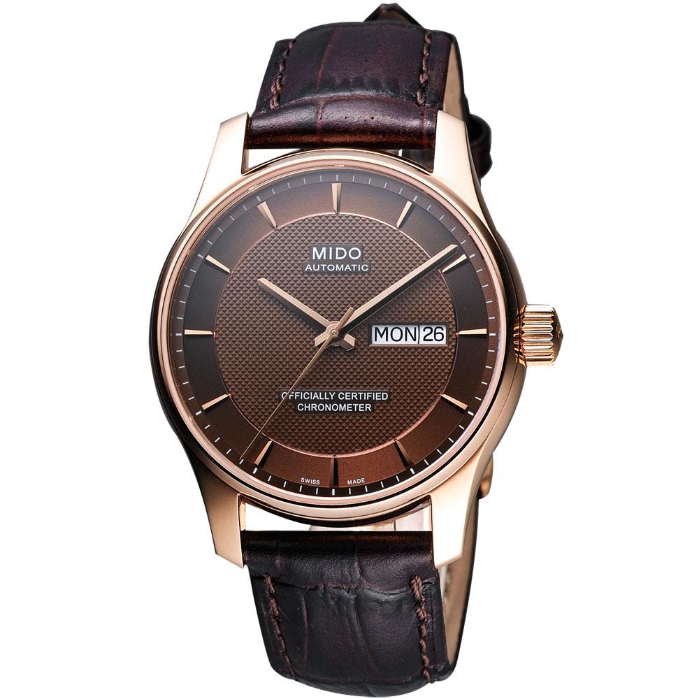 MIDO Belluna 天文台認證機械腕錶-咖啡/40mm