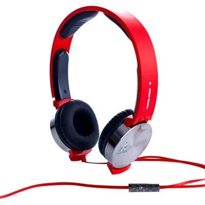 i2艾思奎  VIBRATE 線控耳罩式耳機 搖滾紅