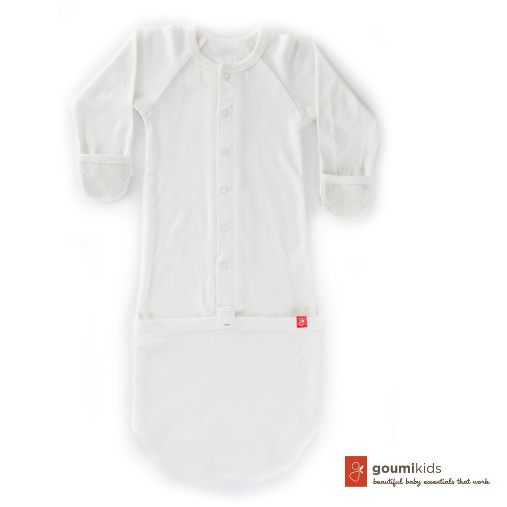 美國 GOUMIKIDS 有機棉嬰兒睡袍 (菱形點點)