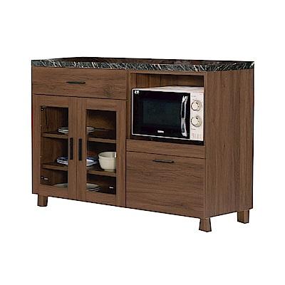 品家居 溫妮費3.9尺石面二抽餐櫃下座(二色)-117.5x42.3x85cm免組