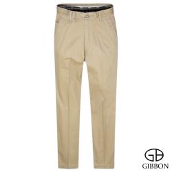 GIBBON 彈性幾何織紋口袋休閒褲‧褐色31~40