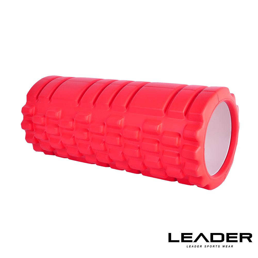 Leader X專業塑身美體瑜珈棒.滾筒.按摩輪紅色