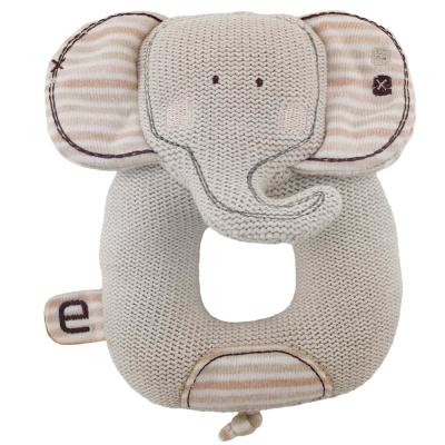 英國Natures Purest天然有機棉-針織小象搖把(PTSS0071150)