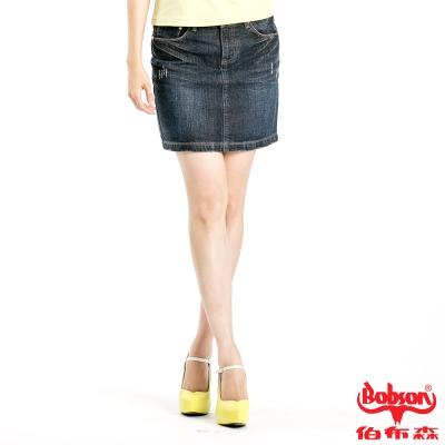 BOBSON 女款牛仔短裙(藍52)