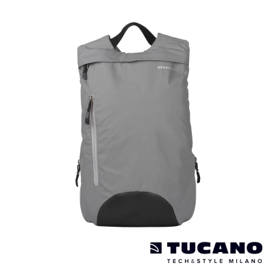 TUCANO-LUNA-運動型防潑水反光後背包-銀