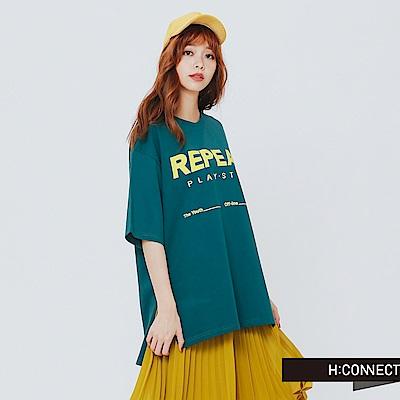 H:CONNECT 韓國品牌 女裝-REPEAT 印花字母T-綠
