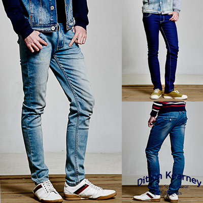 DITION-日韓職人刷紋丹寧牛仔褲-任選2件1580