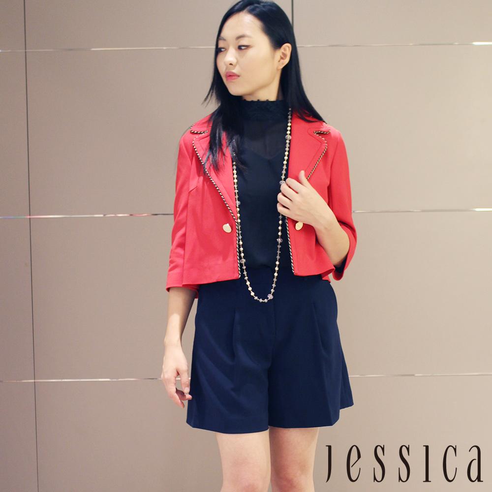 【JESSICA】英倫排釦造型七分袖西裝外套