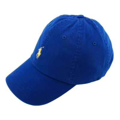 RALPH LAUREN POLO 素面小馬刺繡LOGO棒球帽-藍色