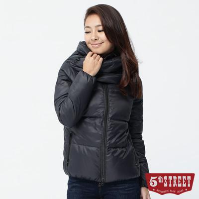 5th-STREET-矚目關鍵-大翻領造型羽絨外套-女款-黑色