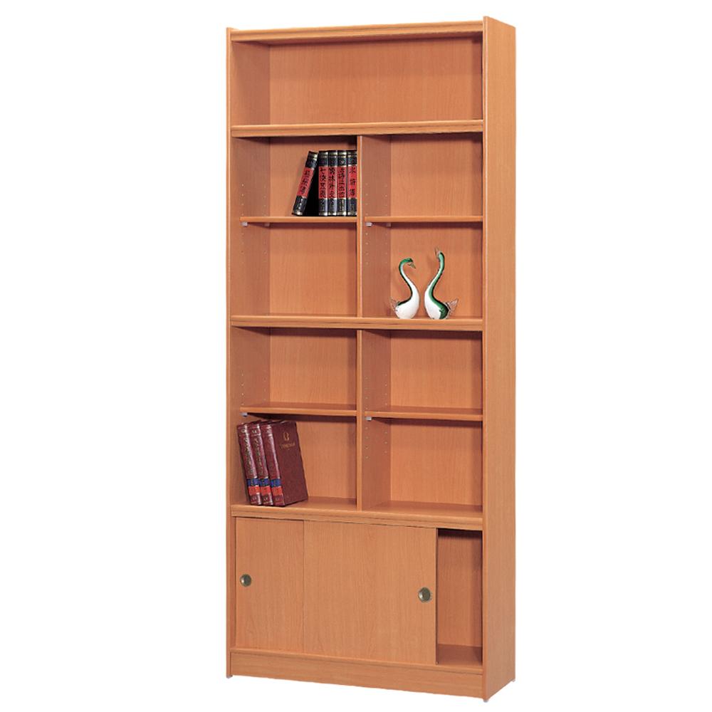 時尚屋 豪豐3x7尺玻璃拉門書櫃 寬90cm 多色可選-免組