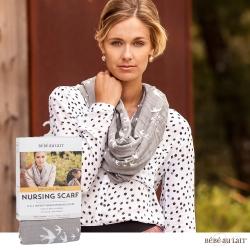 美國 Bebe Au Lait 時尚二合一哺乳圍巾 (Nightingale 棉紗款)