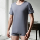 DADADO 基礎系列冰牛奶紗 M-LL 短袖背心(灰)