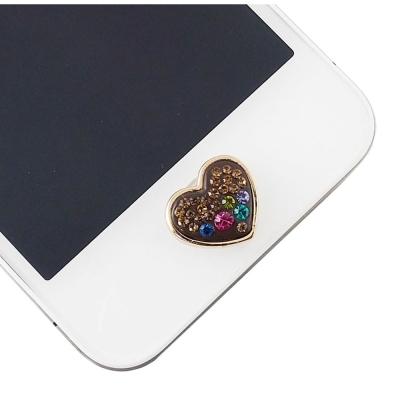 Miravivi iPhone/ iPad/ iPod 水鑽立體系列home鍵貼-愛心