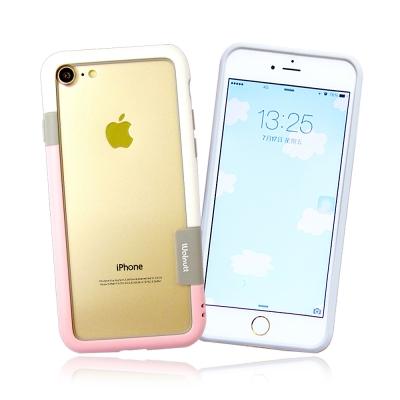 VXTRA日韓糖果風 iPhone 8/iPhone 7撞色邊框軟式手機殼(草莓...