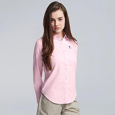 GIORDANO 女裝素色刺繡襯衫-21 粉色