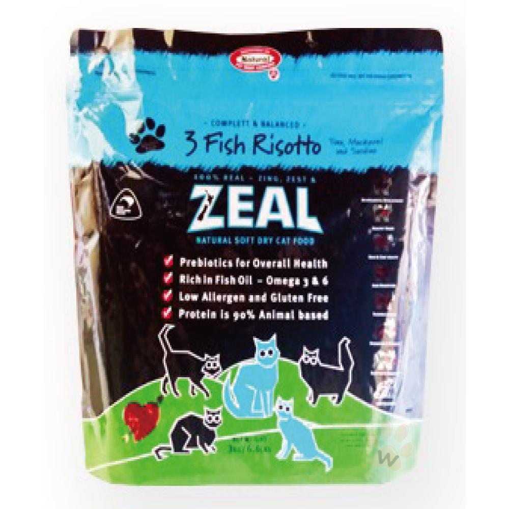 ZEAL紐西蘭天然寵物貓糧-三種魚配方3.3磅
