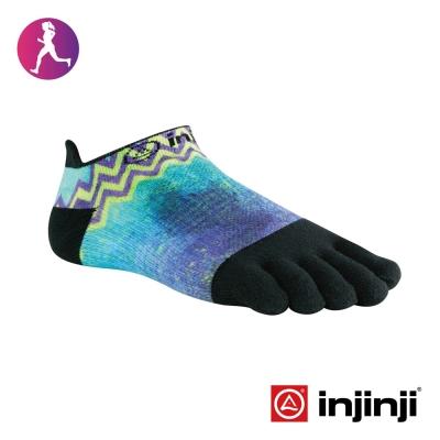 【Injinji】RUN女性輕量吸排五趾隱形襪-電子藍