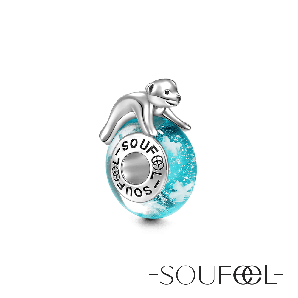 SOUFEEL索菲爾 925純銀珠飾 北極熊 琉璃珠