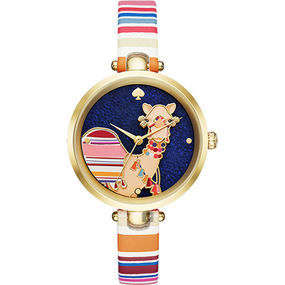 Kate Spade 沙漠駱駝晶鑽腕錶-34mm