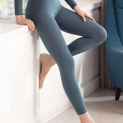 華歌爾MODAL一枚兩役M-LL 保暖隨型長褲(藍)-舒適-保暖發熱