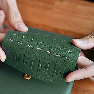 PLEPIC 愛心造型皮革標籤貼-森林綠