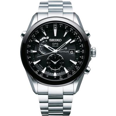 SEIKO ASTRON GPS 太陽能【鈦】電波腕錶-黑/47mm