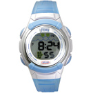 FEMA 熊貓果凍 鬧鈴夜光 數位兒童錶(P327)-藍/33mm
