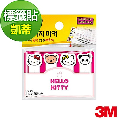 3M 利貼狠黏Kitty造型標籤紙 (670-4KP)