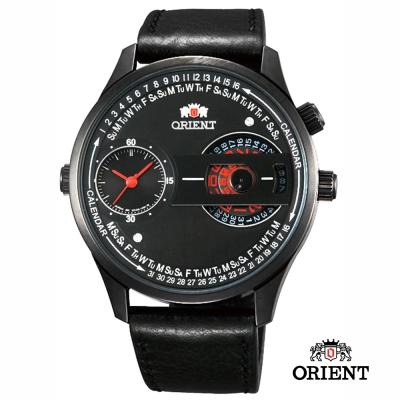 ORIENT 東方錶 DUAL系列 雙時鏤空造型腕錶-黑色/43mm