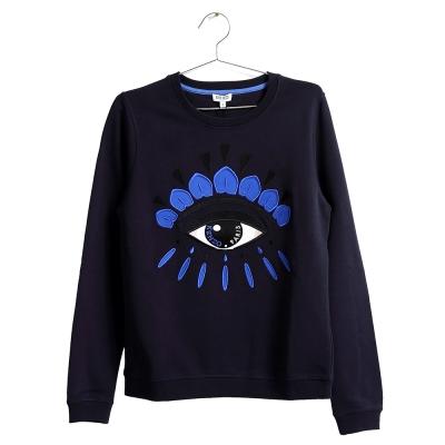 KENZO 立體刺繡眼睛圖案衛衣 深藍/S