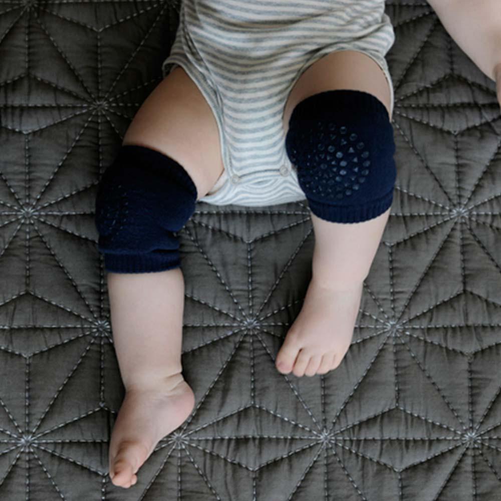 GoBabyGo 丹麥 深藍款專業防滑寶寶爬行護膝