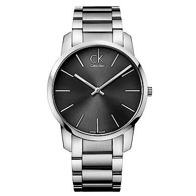 CK CALVIN KLEIN City 都會系列時尚黑手錶-43mm