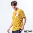 BIG TRAIN 墨達人富士怒虎圓領T-男-黃色