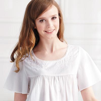 【羅絲美】幻想佳人短袖褲裝睡衣 (純潔白)