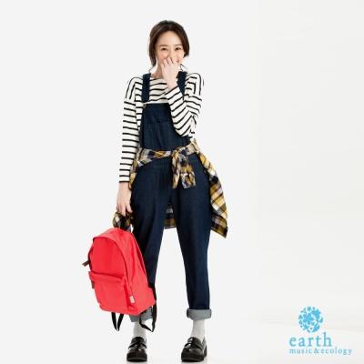 earth music&ecology 連身牛仔吊帶褲