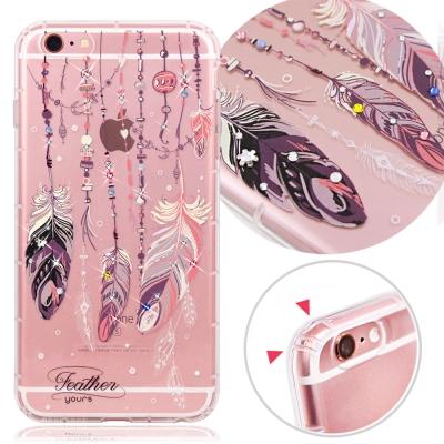 YOURS APPLE iPhone 6/6s 奧地利水晶彩繪防摔氣墊手機鑽殼-...