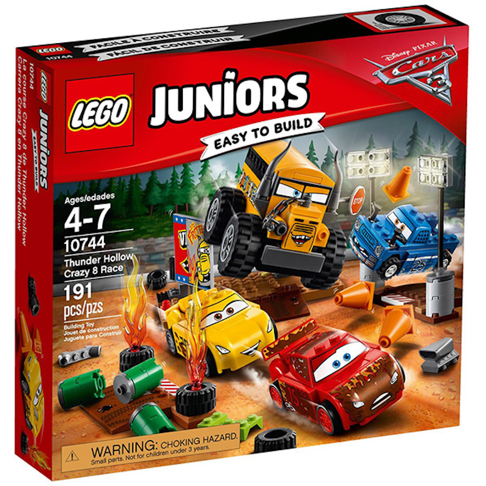LEGO樂高 Juniors系列 10744 CARS汽車總動員 雷霆洞瘋狂8競賽
